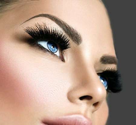 32917579 - beauty face makeup. eyelashes extensions